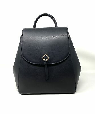 $ CDN174.82 • Buy Kate Spade Adel Medium Flap Leather Backpack Black WKRU6412