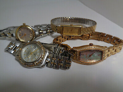 $ CDN24.98 • Buy Fossil Folli Follie Women's 4pc Mixed Style Watch Lot Working With New Batteries