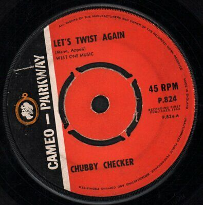 £3.40 • Buy CHUBBY CHECKER Let's Twist Again 7 INCH VINYL UK Cameo Parkway 1962 4 Prong