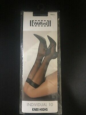 """£16.61 • Buy Wolford """"Individual 10"""" Knee Highs, Size Small, Black"""