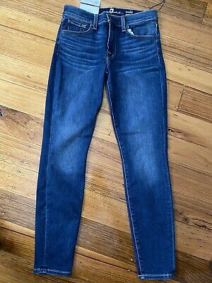 AU110 • Buy Ladies 7 For All Mankind Size 27 Ankle Skinny Jean Brand New With Tags