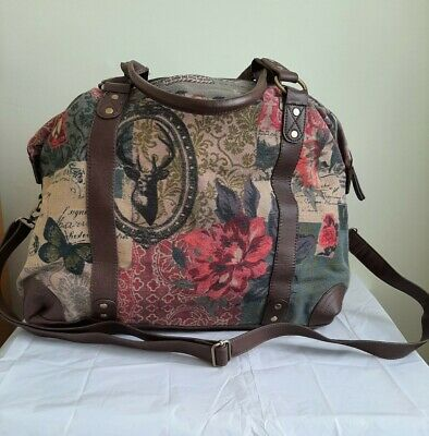 £35 • Buy Accessorize Vintage Style Print Weekend Bag With Adjustable Strap. Size L.