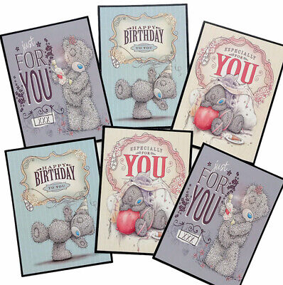 £2.39 • Buy 6 Cute Teddy Bear Card Toppers/Pictures Birthday (SET4) Silk Card Making/Tags