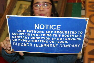 $ CDN12.44 • Buy Chicago Telephone Company Phone Booth Pay Phone Gas Oil Porcelain Metal Sign