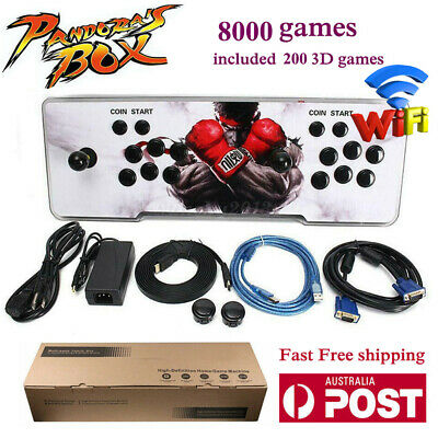 AU273.89 • Buy 2021 Pandora Box 8000 3D Games In 1 Home Stick Arcade Console Video HDMI WIFI AU