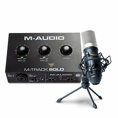 $150.47 • Buy M-Audio Recording, Streaming And Podcasting Bundle – M-Track Solo USB Audio