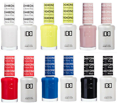 £9.49 • Buy DND Duo Gel & Nail Polish Set 2x15ml - Sorted (#401 - 599) - 379 Colours