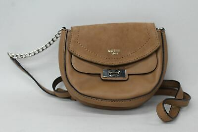 $ CDN33.76 • Buy GUESS Ladies Light Brown Suede & Faux Leather Small Cross Body Saddle Bag