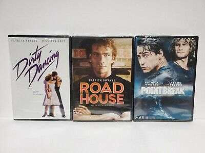 £9.42 • Buy Lot Of 3 Patrick Swayze (DVD, 3-Discs) Dirty Dancing, Roadhouse, And Point Break