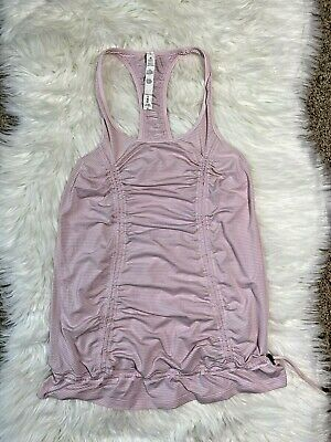 $ CDN25 • Buy Lululemon Athletica Pink Rouched Racerback Tank Top Size 4