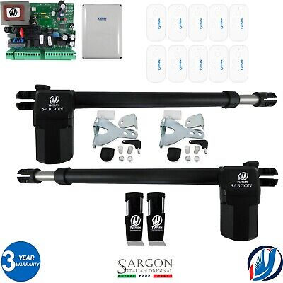 £324.99 • Buy ELECTRIC SWING GATE OPENER COMPLETE KIT 2 MOTORS 10 REMOTES By Oxygen Automation