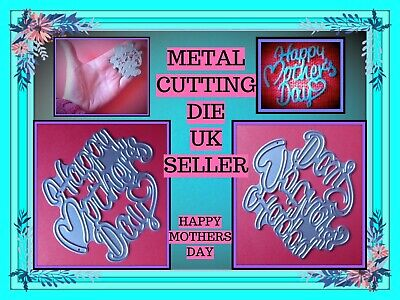 £4.25 • Buy Happy Mothers Day Metal Cutting Die Mother Mum Stencil Craft Card Making DIY UK