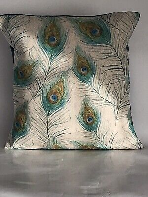 """£9.50 • Buy Peacock Feather Pattern Cushion Cover 12""""x12"""""""