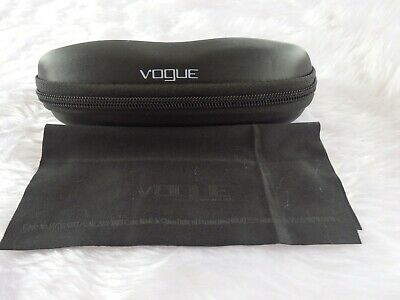£3.99 • Buy Used - Vogue Black Zipped Glasses / Sunglasses Case & Cloth -proceeds To Charity