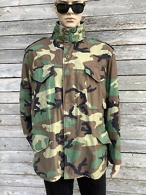 $39.93 • Buy FIELD COAT M-65 Cold Weather WOODLAND Camo Hunting L Large
