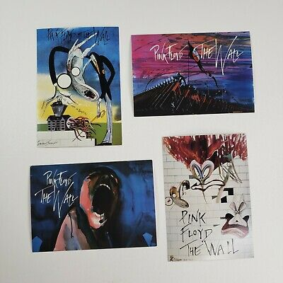 £28.39 • Buy Lot Of 4 Gerald Scarfe For Pink Floyd Postcards The Wall Multicolor NWTs