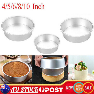 AU21.99 • Buy 4/5/6/8/10 Inch Cake Mold Round DIY Cakes Pastry Mould Baking Tin Pan Reusable