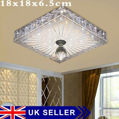£15.89 • Buy Square LED Crystal Ceiling Down Light Panel Wall Kitchen Bathroom Lamp UK Stock