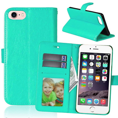 AU4.95 • Buy Turquoise IPhone 7 Plus / 8 Plus Wallet Case, Card Slots, TPU Holder