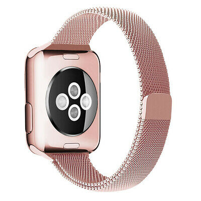 AU29.95 • Buy Pink Apple Watch (38mm, 40mm) Slim Milanese Magnetic Band For Series 1/2/3/4/5/6
