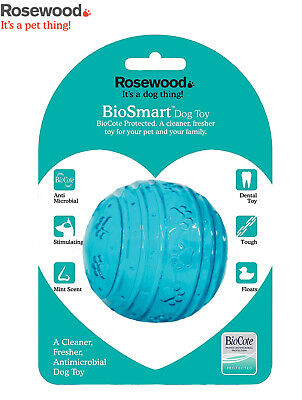 £7.49 • Buy Rosewood Biosafe Blue Dog Puppy Ball Mint Scented Tough Toy Floating Ball