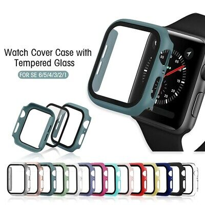 $ CDN2.77 • Buy For Apple Watch Series 3/4/5/6/SE Screen Protector Case Full Protective Cover