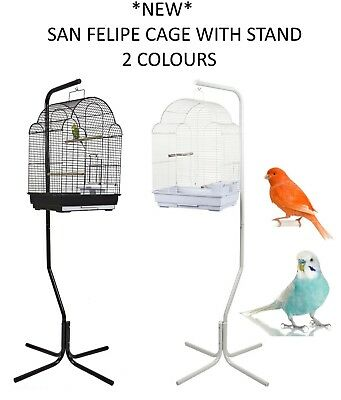 £54.99 • Buy *new* Rainforest San Felipe + C7 Budgie Canary Finch Cage With Stand 2 Colours