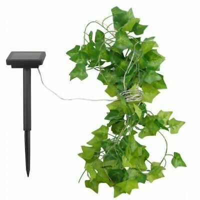£10.98 • Buy Solar String Lights 50 LED Ivy Outdoor Garden Patio Gate Wall Fence Light Decor