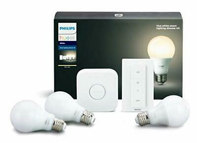 AU147.87 • Buy Philips Hue White B Smart Lighting Bundle With 3 A19 Bulbs Dimmer Switch And ...