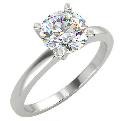 $573.75 • Buy 0.5 Ct Round Cut VS1/G Solitaire Diamond Engagement Ring 14K White Gold