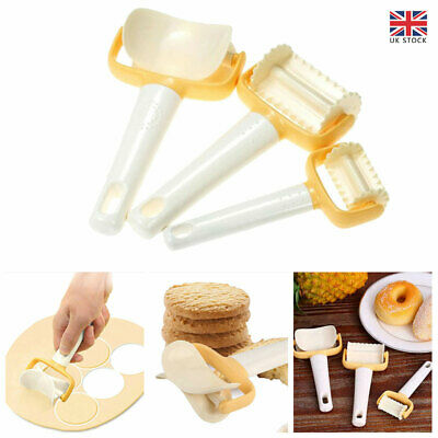 £9.51 • Buy 3Pcs/Set Rolling Cookie Pastry Dough Cutter Roller Slice Biscuit Cutting Blader