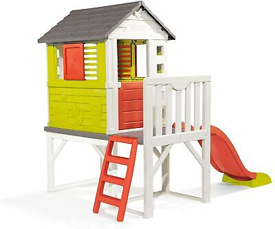 £487 • Buy Amazing Kids Playhouse On Stilts With Slide   Top Quality Wendy House