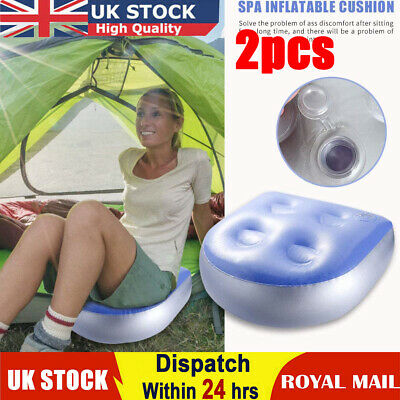 £12.85 • Buy 2x Soft Spa Booster Seat Inflatable Hot Tub Pillows Cushion Suction Cup Gripp