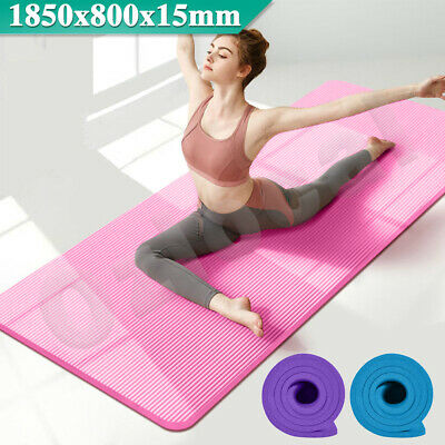 AU24.99 • Buy Yoga Mat 185x80cm Thick NBR Nonslip Exercise Fitness Pilate Gym Sports Dance Pad