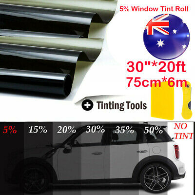 AU21.89 • Buy Window Tint Film Black Roll 5% VLT Car Auto Home House 760mm * 6m Tinting Tool
