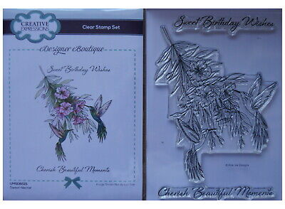 £7.99 • Buy Creative Expressions Clear Rubber Stamp Set SWEET NECTAR Hummingbirds