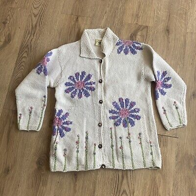 £80 • Buy Vintage PACHAMAMA Hand Knit Cardigan One Size