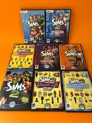 £29.99 • Buy The Sims 2 PC CD-Rom Base Game Stuff H&M Apartment Life Pets Expansion Packs X 6