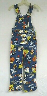 AU151.76 • Buy Vintage 70s HEE HAW Show Overalls Novelty Print POP ART Bib Youth Sized Liberty