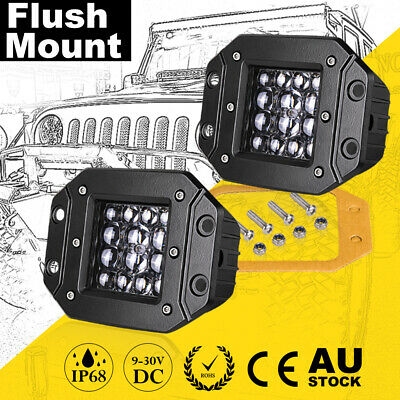 AU33.99 • Buy 5inch Cree LED Work Lights Flush Mount Spot Reverse Driving Quad Row Truck 4WD