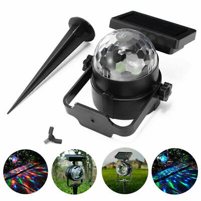 Solar LED Moving Colour Changing Rotating RGB Spotlight Garden Party Stage Light • 11.98£