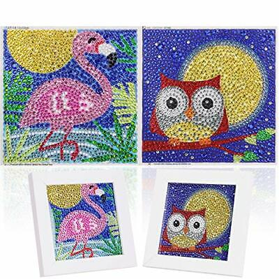 £11.99 • Buy 2 Pack DIY 5D Diamond Painting By Number Kit For Children,MWOOT Full Drill