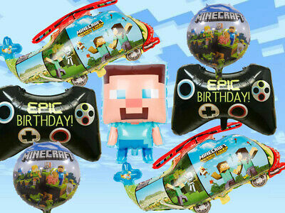 £3.99 • Buy MINECRAFT Gaming FOIL BALLOONS For Birthday Party Large 7 Piece Set Decoration