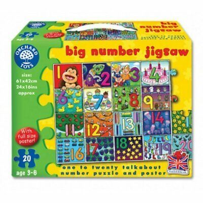 £9.99 • Buy Orchard Toys Big Number Jigsaw - 20pc Jigsaw Puzzle