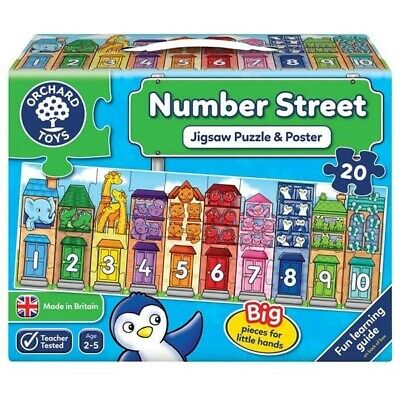 £8.99 • Buy Orchard Toys Number Street - 20pc Jigsaw Puzzle