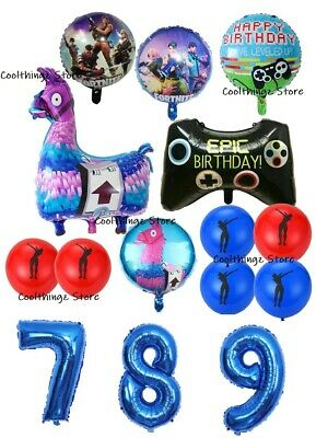 £3.99 • Buy FORTNITE Gaming FOIL BALLOONS Birthday Party Decorations Age 7 8 9 Game Battle