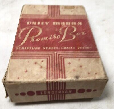 £18.69 • Buy VTG 1940's Zondervan Daily Manna Promise Box Scripture Verses Poems Cards F/S