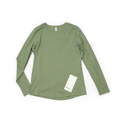 $ CDN63 • Buy NWT [Size 4] Lululemon Womens Ever Ready Long Sleeve Willow Green