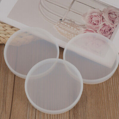 £4.99 • Buy 3X Round Coaster Resin Casting Mold Silicone Making Epoxy Mould Craft DIY Tool