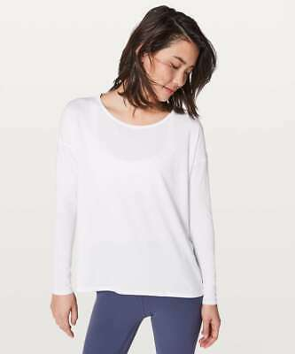 $ CDN95.84 • Buy LULULEMON Back Into It Long Sleeve In White Size 12